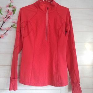Lululemon Workout athletic 1/2 zip red jacket